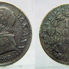 Monedas antiguas de Europa: MONEDA DE PLATA ESTADO PONTIFICIO VATICANO DE 10 SOLDI PAPA PIO IX DE 1867. Lote 99276631