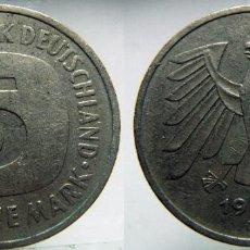 Monedas antiguas de Europa: MONEDA DE ALEMANIA,5 MARCOS 1992. Lote 99290771