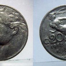 Monedas antiguas de Europa: MONEDA DE ITALIA 20 CENTESIMI 1922 R. Lote 99305463
