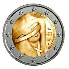 Monedas antiguas de Europa: FRANCIA 2 EURO 2017 S/C 25º ANIVERSARIO DEL LAZO ROSA. Lote 131156921