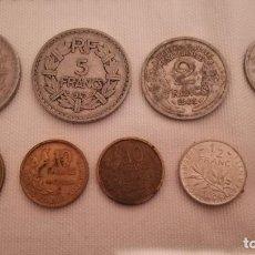 Monedas antiguas de Europa: 22-LOTE 9 MONEDAS DE FRANCIA-3. Lote 99513475