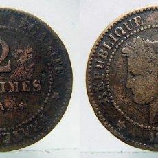 Monedas antiguas de Europa: MONEDA DE FRANCIA CÉRÈS 2 CENTIMOS 1879,. Lote 99548659