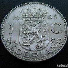 Monedas antiguas de Europa: HOLANDA, NETHERLANDS, 1 GULDEN, 1964, PLATA-SILVER. Lote 99882899