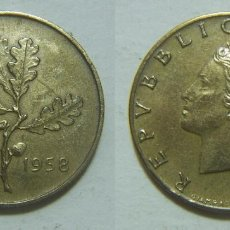Monedas antiguas de Europa: MONEDA DE ITALIA 20 LIRAS 1958. Lote 99973943