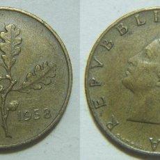 Monedas antiguas de Europa: MONEDA DE ITALIA 20 LIRAS 1958. Lote 99973999
