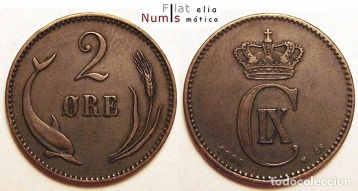 DINAMARCA - 2 ORE - 1886 CS - CHRISTIAN IX - E.B.C. - COBRE (Numismática - Extranjeras - Europa)
