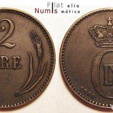 Monedas antiguas de Europa: DINAMARCA - 2 ORE - 1886 CS - CHRISTIAN IX - E.B.C. - COBRE. Lote 100029399