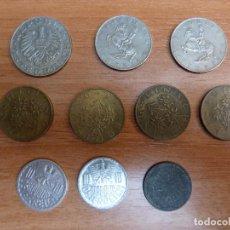 Monedas antiguas de Europa: LOTE 10 MONEDAS DE AUSTRIA. CHELÍN AUSTRIACO. GROSCHEN. SCHILLING CIRCULADAS. BUEN ESTADO.. Lote 100381823
