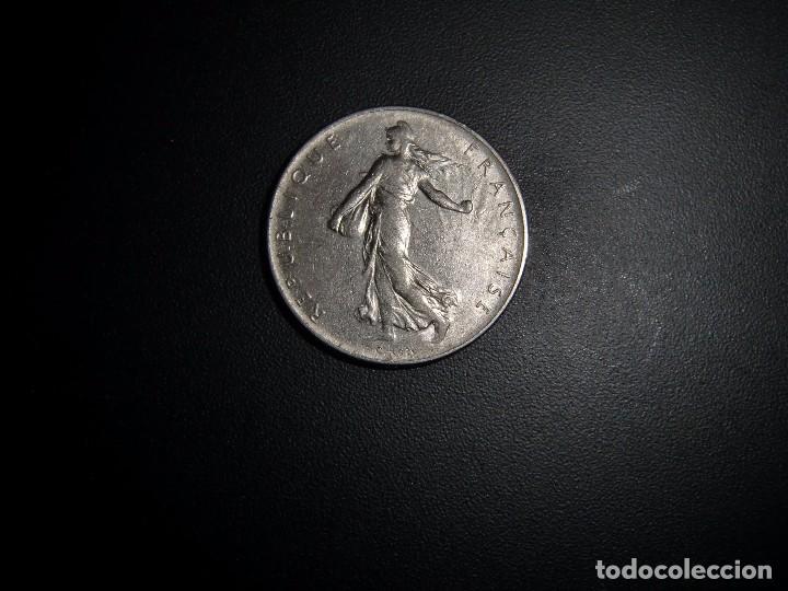 MONEDA DE 1 FRANC CON LA IMAGEN DE LA SEMBRADORA AÑO 1966. (Numismática - Extranjeras - Europa)