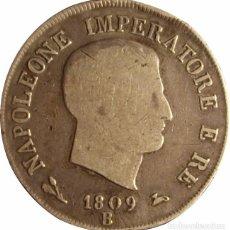 Monedas antiguas de Europa: NAPOLEÓN BONAPARTE 5 LIRAS 1.809 BOLONIA. Lote 50531546