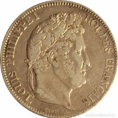 Monedas antiguas de Europa: FRANCIA. LUIS FELIPE I, 5 FRANCOS 1.833 PARÍS. PLATA. Lote 101096335