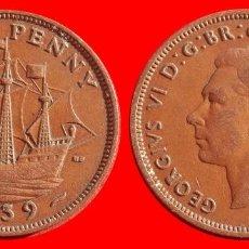 Monedas antiguas de Europa: HALF 1/2 PENNY 1939 INGLATERRA 04042T COMPRAS SUPERIORES 40 EUROS ENVIO GRATIS. Lote 101153327
