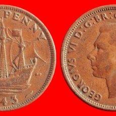 Monedas antiguas de Europa: HALF 1/2 PENNY 1943 INGLATERRA 04045T COMPRAS SUPERIORES 40 EUROS ENVIO GRATIS. Lote 101153531