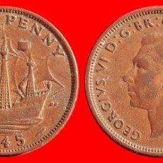 Monedas antiguas de Europa: HALF 1/2 PENNY 1945 INGLATERRA 04047T COMPRAS SUPERIORES 40 EUROS ENVIO GRATIS. Lote 101153667