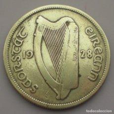 Monedas antiguas de Europa: MEDIA CORONA DE PLATA 0,750. IRLANDAAÑO 1.928. MBC.. Lote 101153791