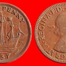 Monedas antiguas de Europa: HALF 1/2 PENNY 1957 INGLATERRA 04057T COMPRAS SUPERIORES 40 EUROS ENVIO GRATIS. Lote 101154375