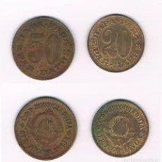 Monedas antiguas de Europa: 2 MONEDAS ANTIGUAS DE LA ANTIGUA YUGOSLAVIA. Lote 101236807