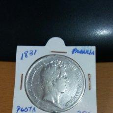 Monedas antiguas de Europa: MONEDA FRANCIA PLATA 5 FRANCOS 1831. Lote 101349067
