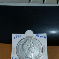 Monedas antiguas de Europa: MONEDA FRANCIA 5 FRANCOS PLATA 1831. Lote 101349274