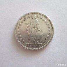 Monedas antiguas de Europa: SUIZA * 2 FRANCOS 1920-B * PLATA. Lote 101575863