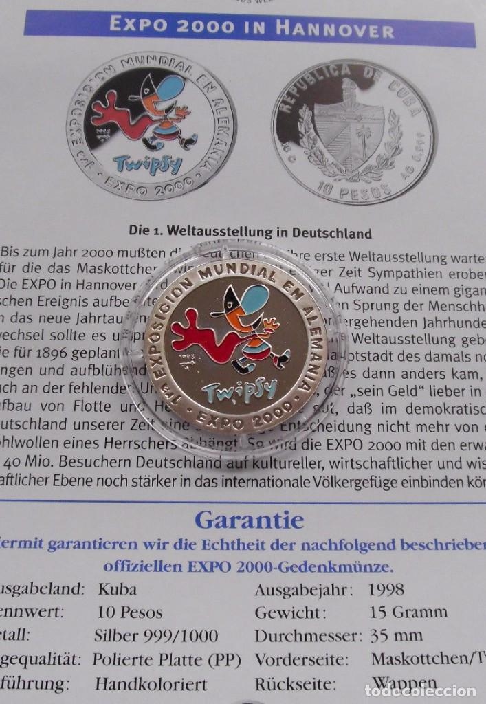 Monedas antiguas de Europa: BONITA MONEDA DE PLATA PURA DE LA PRIMERA EXPO EN ALEMANIA EXPO 2000 HANNOVER CON LA MASCOTA TWIPSY - Foto 2 - 101671839