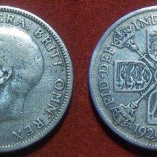 Monedas antiguas de Europa: MONEDA DE GRAN BRETAÑA UN FLORIN 1929 GEORGE V PLATA. Lote 101714539