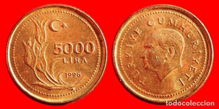 5000 Lira 1996 Turquia 04752t Compras Superiore Comprar Monedas