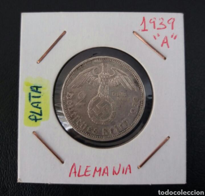 Monedas antiguas de Europa: ALEMANIA 2 MARCOS 1939 CECA A - Foto 2 - 102422346