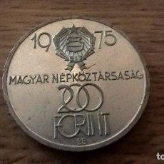 Monedas antiguas de Europa: HUNGRÍA. 200 FORINT DE PLATA DE 1975. Lote 102489055