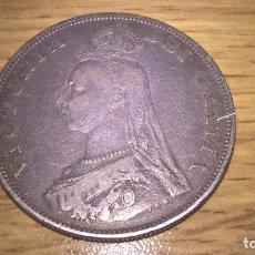 Monedas antiguas de Europa: REINO UNIDO. EXCELENTE DOBLE FLORÍN DE PLATA DE 1887. Lote 102491087