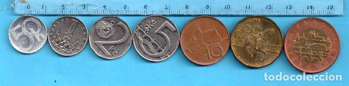 SIETE MONEDAS DE PRAGA (Numismática - Extranjeras - Europa)