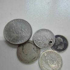 Monedas antiguas de Europa: LOTE 4 MONEDAS DE PLATA Y UNA NORMAL. Lote 102805442