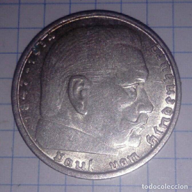 Monedas antiguas de Europa: ALEMANIA/III REICH. 2 REICHSMARK 1938B. PLATA. - Foto 2 - 102959575