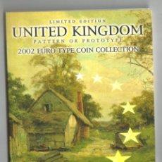 Monedas antiguas de Europa: REINO UNIDO EUROSET PRUEBA 2002 - EUROS DE PRUEBA EMITIDOS EN EL REINO UNIDO (ESCASA). Lote 180202266