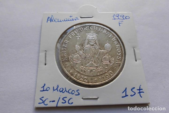 ALEMANIA 10 MARCOS 1990 CECA F SC (Numismática - Extranjeras - Europa)