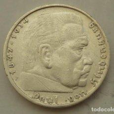 Monedas antiguas de Europa: ESCASA MONEDA DE PLATA 5 MARCOS 1935 CECA F, ALEMANIA NAZI, MARISCAL PAUL VON HINDENBURG. Lote 104037287