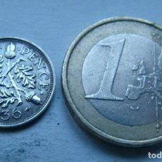 Monedas antiguas de Europa: MONEDA DE PLATA DE 3 PENIQUES DEL REY JORGE V DE GRAN BRETAÑA AÑO 1936. Lote 104319311