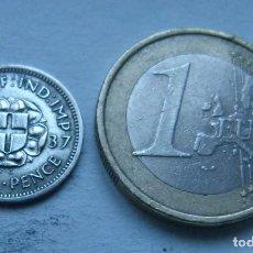 Monedas antiguas de Europa: MONEDA DE PLATA DE 3 PENIQUES DEL REY JORGE VI DE GRAN BRETAÑA AÑO 1937. Lote 104319503