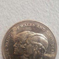 Monedas antiguas de Europa: MONEDA ISABEL II 1981 BODA LADY DIANA. Lote 104413871