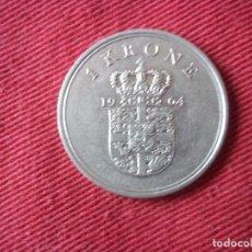 Monedas antiguas de Europa: 1 KRONE 1964 DANMARK. Lote 104825607
