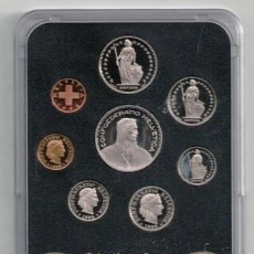 Monedas antiguas de Europa: COLECCIÓN COMPLETA. OCHO MONEDAS DE CURSO LEGAL AÑO 1996, SUIZA. Lote 104944627