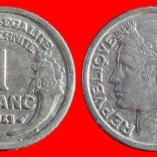 Monedas antiguas de Europa: 1 FRANCO 1941 FRANCIA 05949T COMPRAS SUPERIORES 40 EUROS ENVIO GRATIS. Lote 105112003