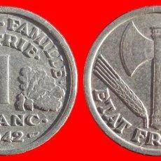 Monedas antiguas de Europa: 1 FRANCO 1942 FRANCIA 05950T COMPRAS SUPERIORES 40 EUROS ENVIO GRATIS. Lote 105112143