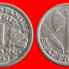 Monedas antiguas de Europa: 1 FRANCO 1943 FRANCIA 05951T COMPRAS SUPERIORES 40 EUROS ENVIO GRATIS. Lote 105112275