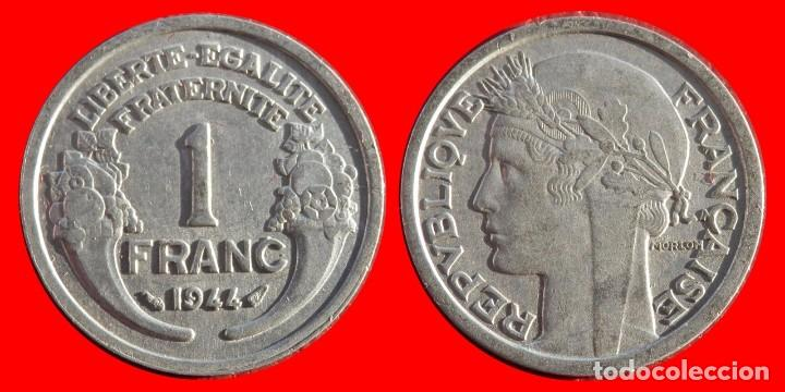 1 FRANCO 1944 FRANCIA 05952T COMPRAS SUPERIORES 40 EUROS ENVIO GRATIS (Numismática - Extranjeras - Europa)