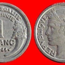 Monedas antiguas de Europa: 1 FRANCO 1944 FRANCIA 05952T COMPRAS SUPERIORES 40 EUROS ENVIO GRATIS. Lote 105112383