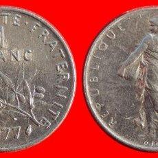 Monedas antiguas de Europa: 1 FRANCO 1977 FRANCIA 05977T COMPRAS SUPERIORES 40 EUROS ENVIO GRATIS. Lote 105115783