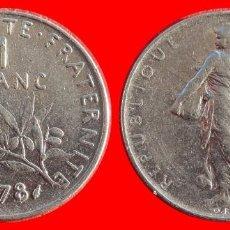 Monedas antiguas de Europa: 1 FRANCO 1978 FRANCIA 05978T COMPRAS SUPERIORES 40 EUROS ENVIO GRATIS. Lote 105115891