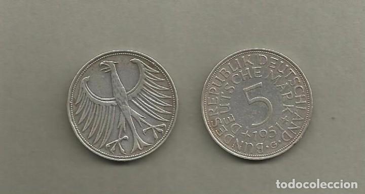Plata Alemania 5 Mark 1951 G 1120 Gramos De Comprar Monedas