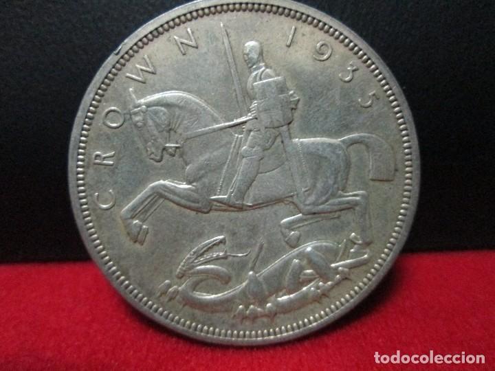 CORONA 1935 REINO UNIDO PLATA (Numismática - Extranjeras - Europa)